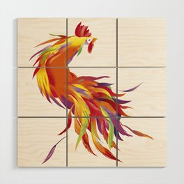 Red Rooster Wood Wall Art