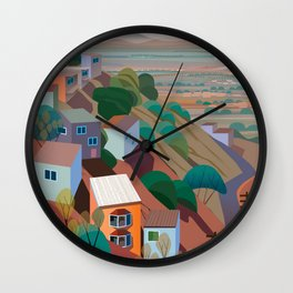 Nogales la Frontera Wall Clock