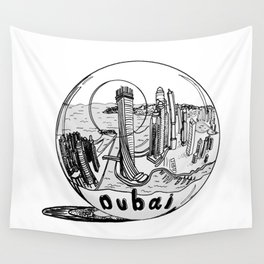 Dubai in a glass bowl . Dubai ( https://society6.com/vickonskey/collection ) Wall Tapestry