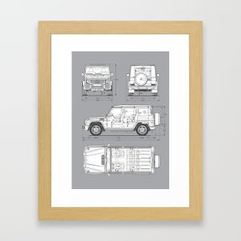 GWAGON BLUEPRINT Framed Art Print