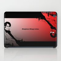 stephen king iPad Cases featuring Stephen King Rules by Hazel Bellhop