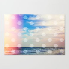 Dream Beach / Polka Dots Canvas Print
