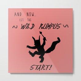 Wild Rumpus (Coral) Metal Print