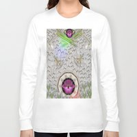 asian Long Sleeve T-shirts featuring Asian pattern by Pepita Selles