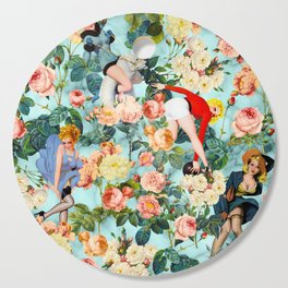 Floral and Pin Up Girls II Pattern Cutting Board