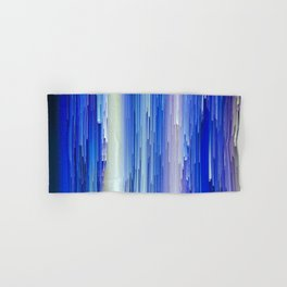 Frozen blue waterfall abstract digital painting Hand & Bath Towel