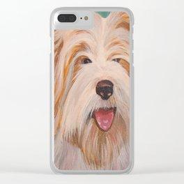 Terrier Portrait Clear iPhone Case