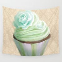 cupcake Wall Tapestries featuring Cupcake by Naomi Shingler