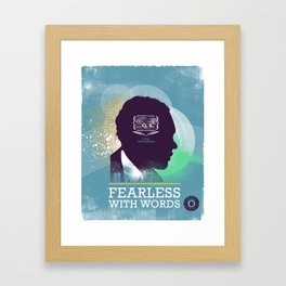 FEARLESS: With Words - L. Hughes Framed Art Print