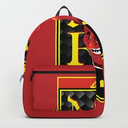 Man Red badge Backpack
