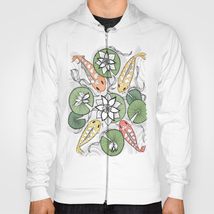 Koi Reunion - Zentangle Illustration Hoody