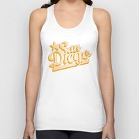 san diego Tank Tops featuring San Diego by GetSolidGold