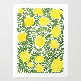 The Fresh Lemon Art Print