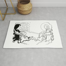 Reylo Sun and the Moon and the Stars Rug