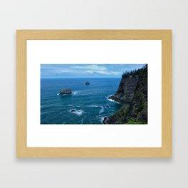 Coastal Cliffs Framed Art Print