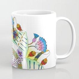 Foxgloves and Thistles Mandala Coffee Mug