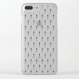 Doodle Pattern No.7 Clear iPhone Case