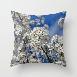 Bradford Pear Blooms Throw Pillow