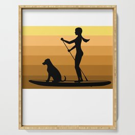 Stand up paddle gift paddling water sports lake Serving Tray