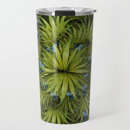 """El Bosco fantasy, tropical island blue butterflies"" Travel Mug"