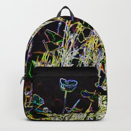 MODERN ABSTRACT POPPIES GLOWING PENCIL DRAWING Backpack