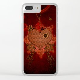 Wonderful heart made of metal Clear iPhone Case