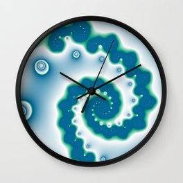 blue and geen fractal Wall Clock