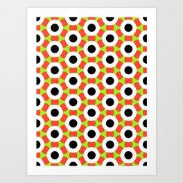 Modern Times 2.0 Pattern - Design No. 9 Art Print