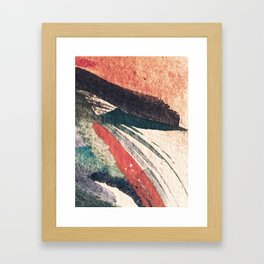 Thunder&Lightning {3}: Minimal watercolor abstract in pinks, blues, and greens Framed Art Print