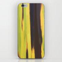 banana leaf iPhone & iPod Skins featuring Burnt Banana Leaf by Robert Morris