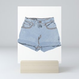 She Wears Short Shorts Mini Art Print