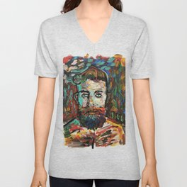 Sam con La Barba Unisex V-Neck