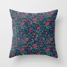 Pixel Flowers Throw Pillow
