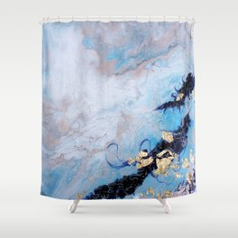 Blue Marble Shower Curtain
