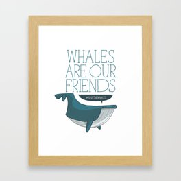 Save the whales Framed Art Print