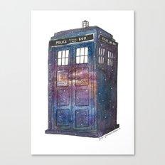 Doctor Who Galaxy Tardis Canvas Print