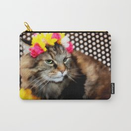 Furry Flowers Carry-All Pouch