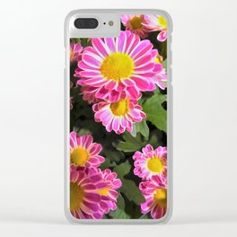Fleurette Daisies WC Clear iPhone Case