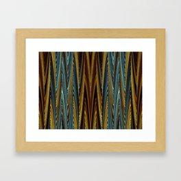 Herbstwald - Muster Framed Art Print