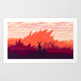 Mountain spirits Art Print