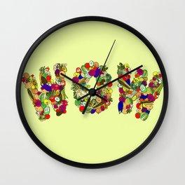 Vegan WOW Wall Clock