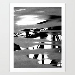 Turners Falls Bridge Reflection Art Print