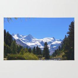 Roseggtal Switzerland - Swiss Alps Travel Rug