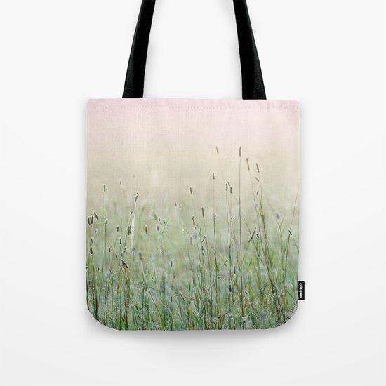 Idyllic Grass Field in the Morning Sun Tote Bag