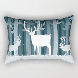 Snow Caribou Rectangular Pillow