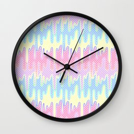 Melty Patterned Slime Wall Clock