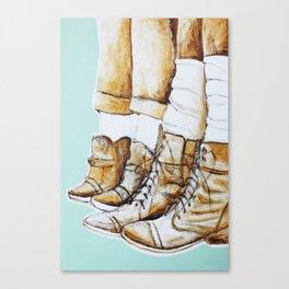 Worn Canvas Print