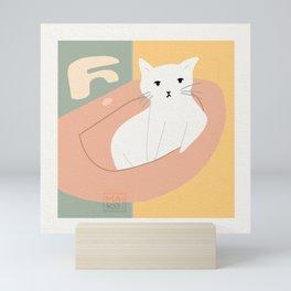 Cute Cat Being a Cute Cat Mini Art Print