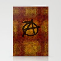 anarchy Stationery Cards featuring Distressed Anarchy by Bruce Stanfield
