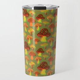 Mushroom Print in 3D Travel Mug